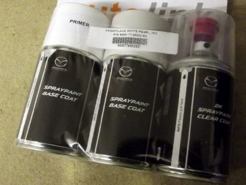 Paint spray kit, genuine Mazda, 25D, Snowflake White Pearl